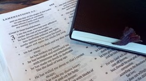 Moleskine and a Bible.  Great combination.
